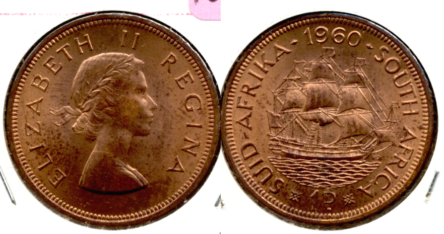 1960 South Africa 1 Penny MS-60