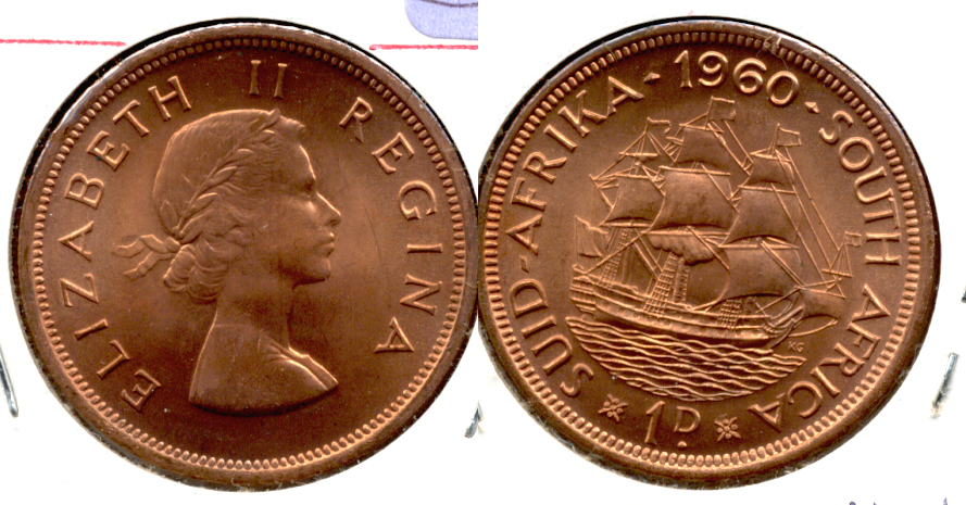 1960 South Africa 1 Penny Proof