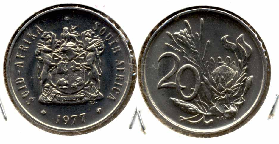 1977 South Africa 20 Cents MS