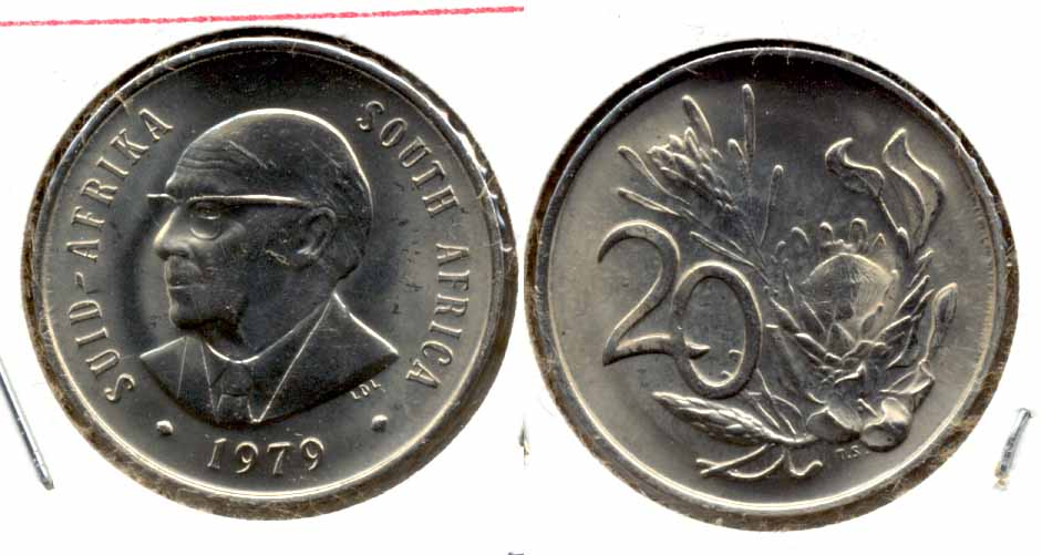 1979 South Africa 20 Cents MS
