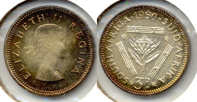 1960 South Africa 3 Pence Proof