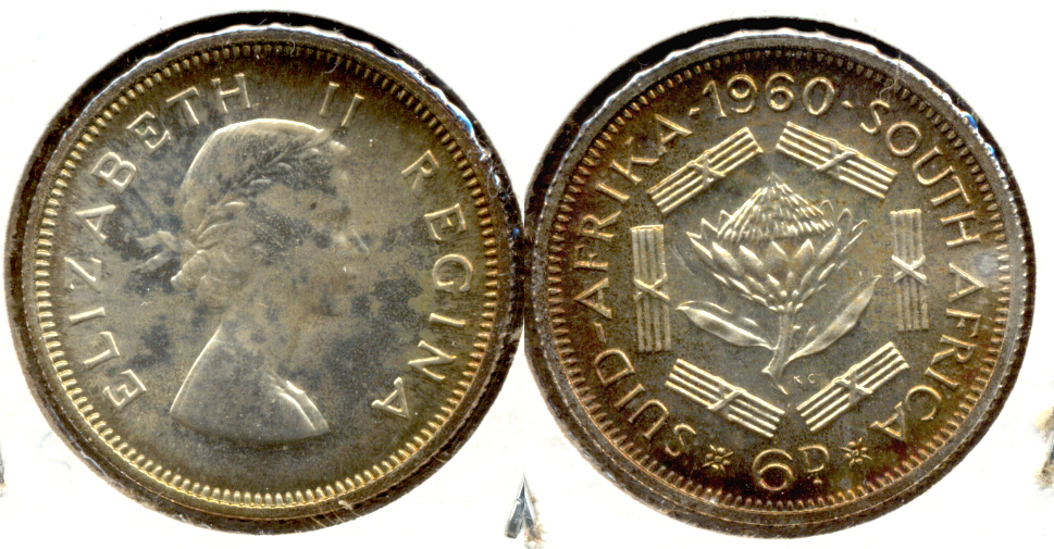 1960 South Africa 6 Pence Proof
