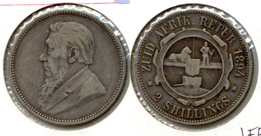 1894 South Africa Florin VF-20