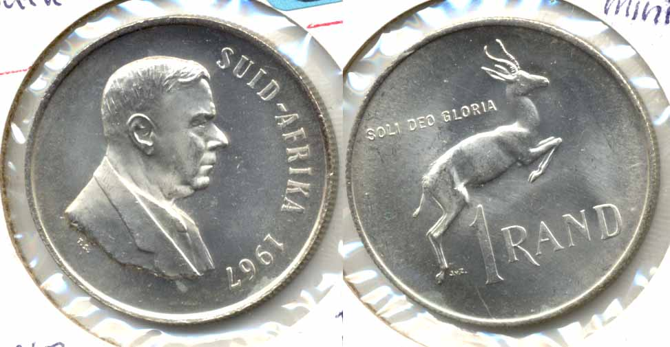 1967 South Africa 1 Rand Afrikaans MS