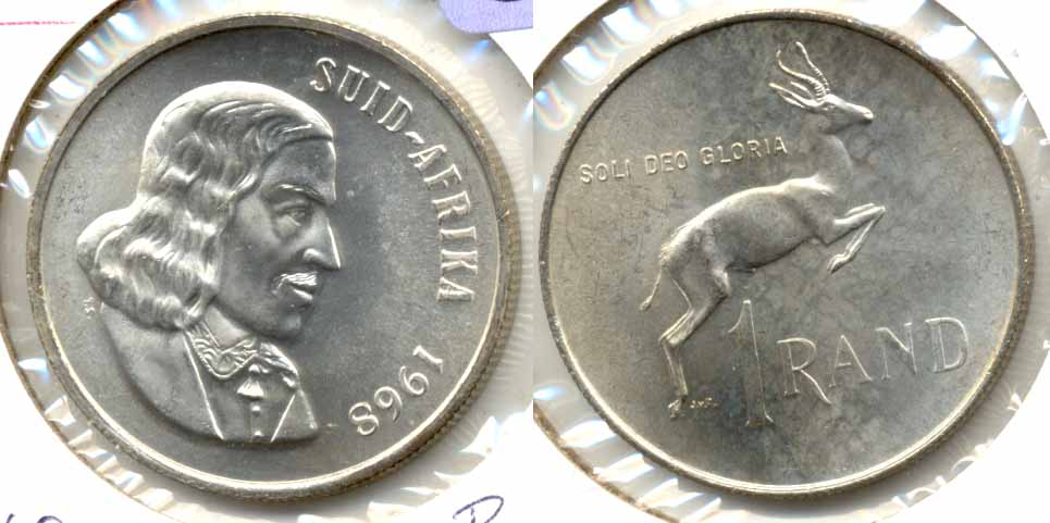 1968 South Africa 1 Rand Afrikaans MS