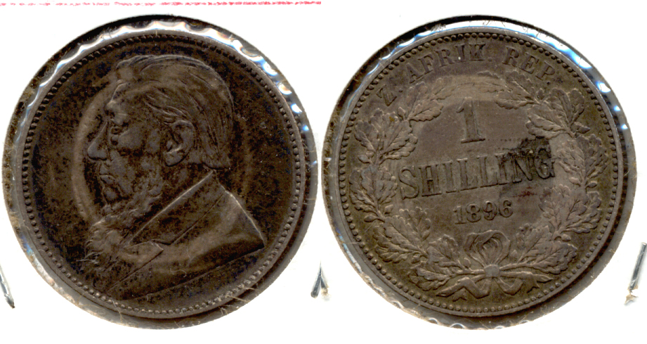 1896 South Africa 1 Shilling VF-20