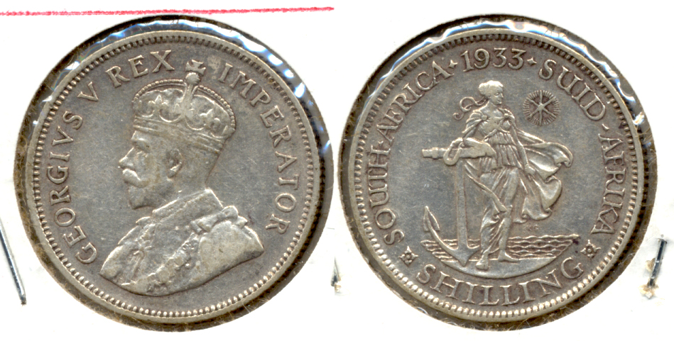 1933 South Africa 1 Shilling VF-20