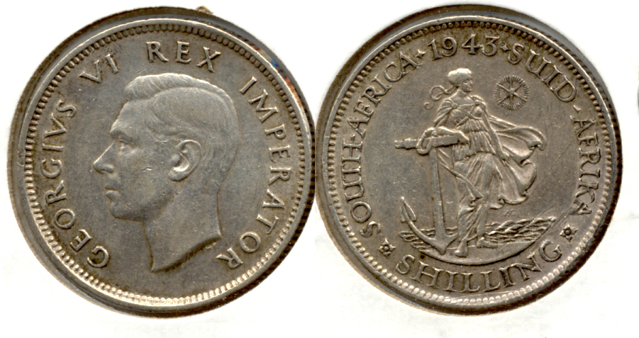 1943 South Africa 1 Shilling VF-30
