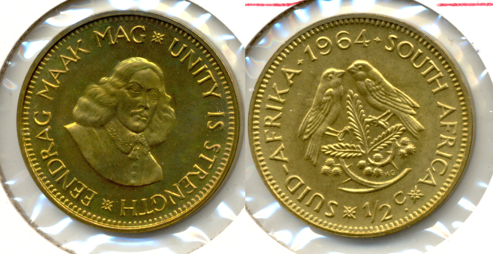 1964 South Africa 1/2 Cent Proof