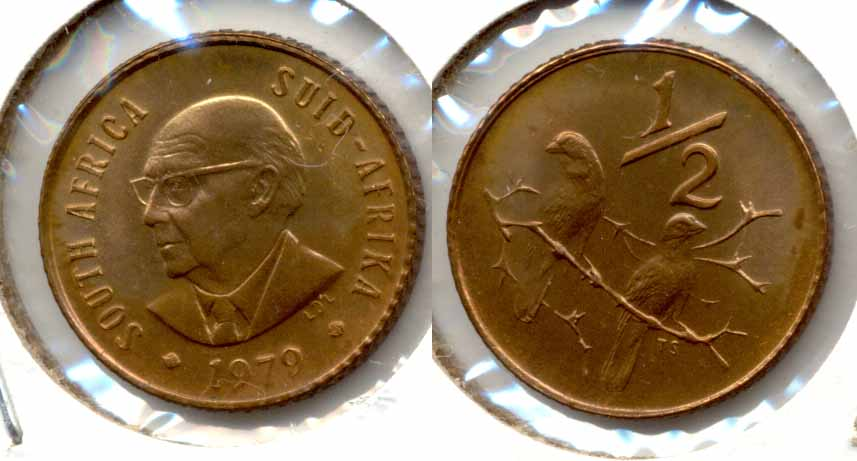 1979 South Africa 1/2 Cent MS