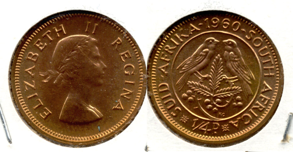 1960 South Africa 1/4 Penny Proof