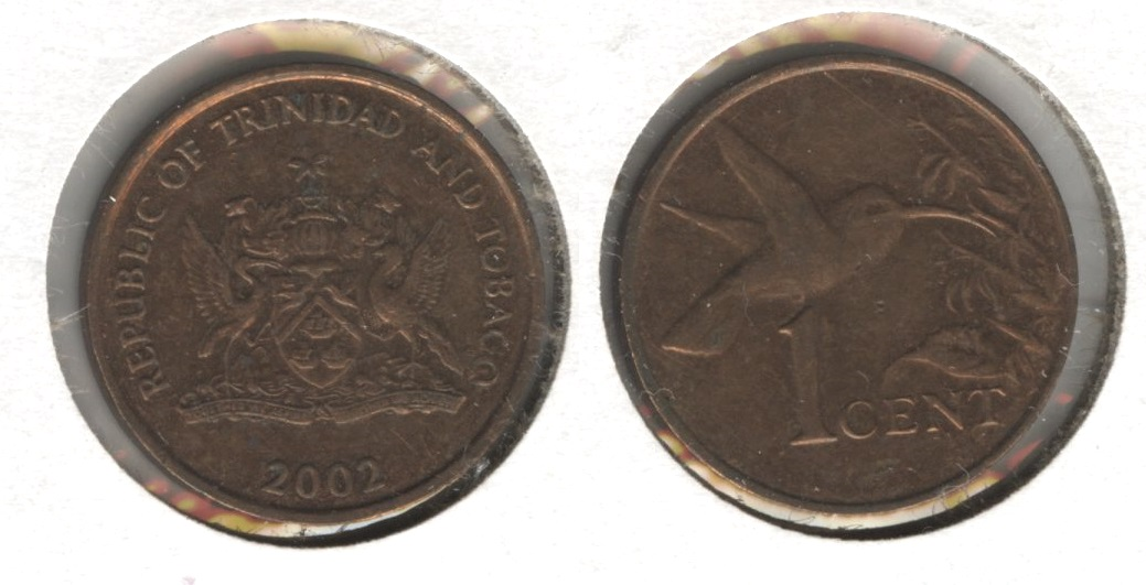 2002 Trinidad and Tobago 1 Cent EF-40