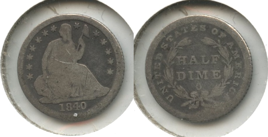 1840-O Seated Liberty Half Dime AG-3