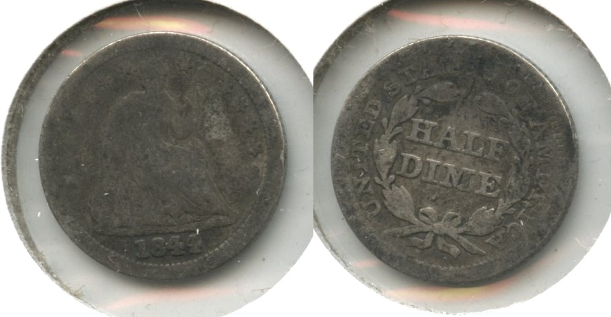 1844 Seated Liberty Half Dime Good-4