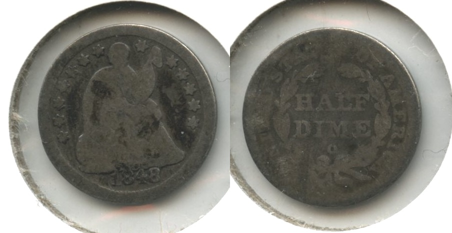 1848-O Seated Liberty Half Dime AG-3 #a