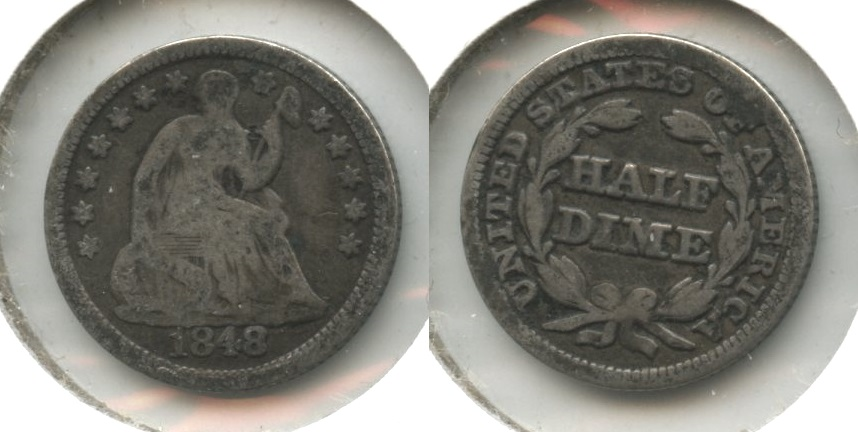 1848 Seated Liberty Half Dime Good-4 #a