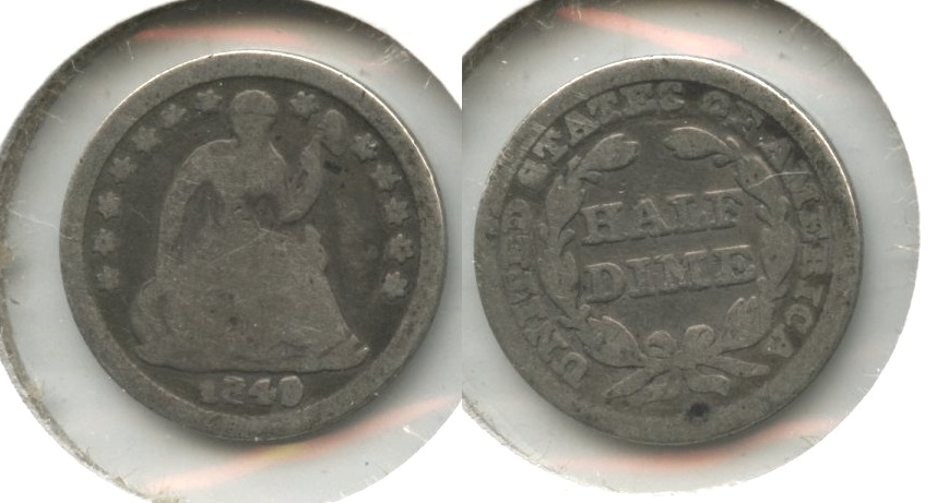 1849 Seated Liberty Half Dime Good-4 #c