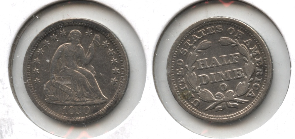 1850-O Seated Liberty Half Dime VF-20 Large O