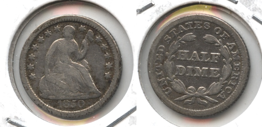 1850 Seated Liberty Half Dime VG-8 #a