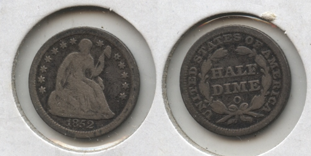 1852-O Seated Liberty Half Dime VG-8