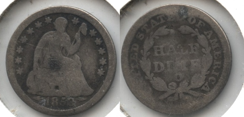1853-O Seated Liberty Half Dime AG-3