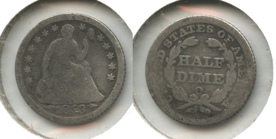 1853-O Seated Liberty Half Dime AG-3 #a