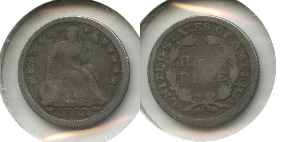 1853 Seated Liberty Half Dime Good-4 #am