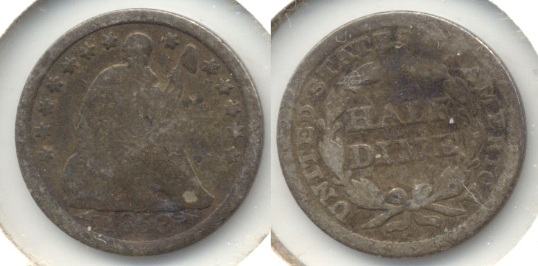 1853 Seated Liberty Half Dime Good-4 d