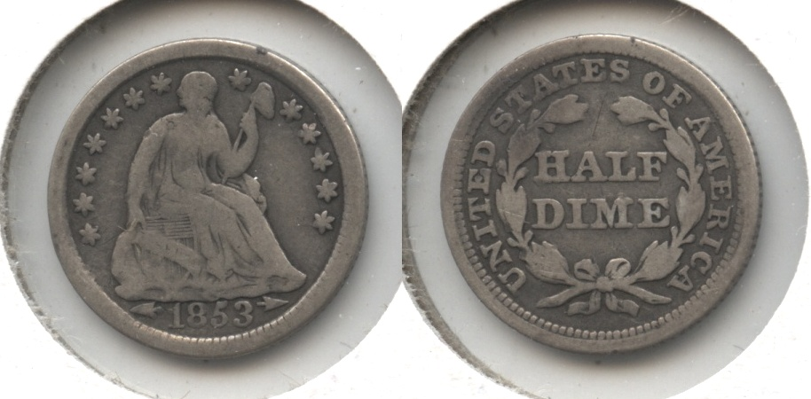1853 Seated Liberty Half Dime Good-4 #y