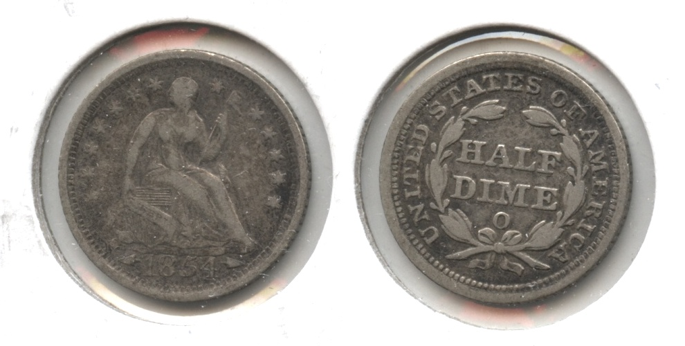 1854-O Seated Liberty Half Dime VF-20 #a