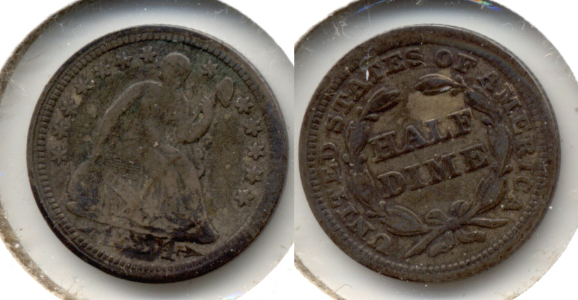 1854 Seated Liberty Half Dime VG-8 a
