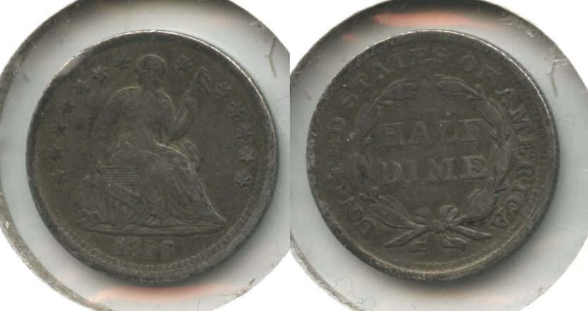 1856 Seated Liberty Half Dime Fine-12 #a