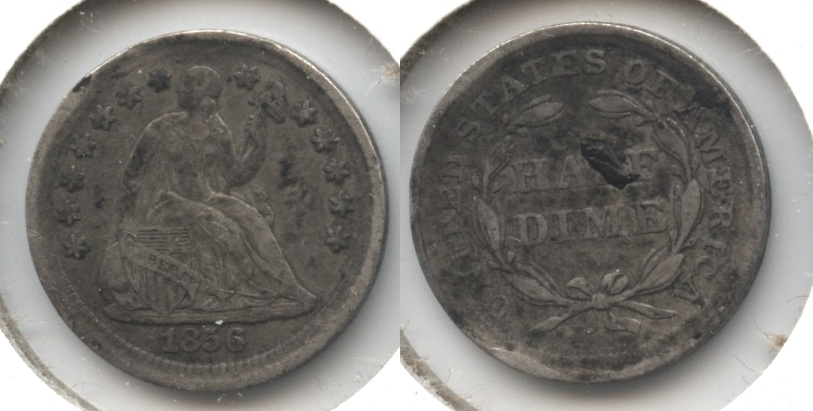 1856 Seated Liberty Half Dime VF-20 #b Bent