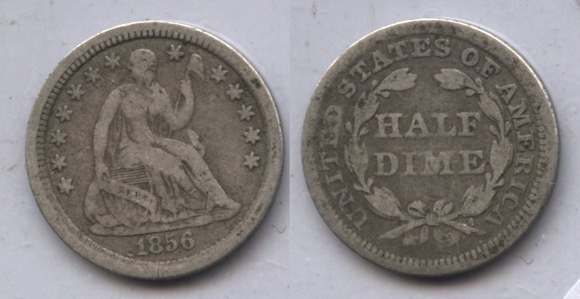 1856 Seated Liberty Half Dime VG-8 #b