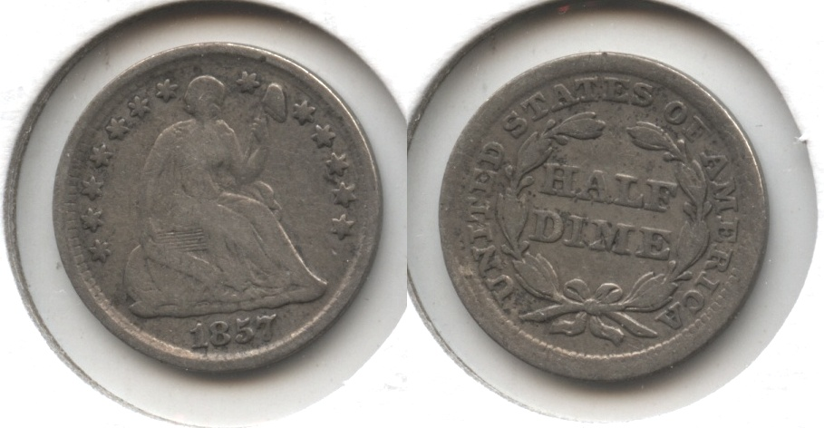 1857 Seated Liberty Half Dime Good-4 #k