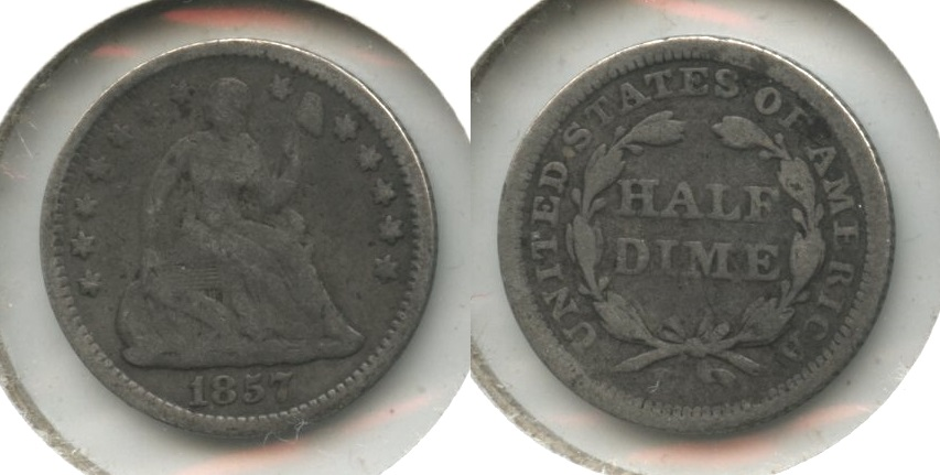1857 Seated Liberty Half Dime Good-4 #o
