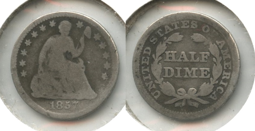 1857 Seated Liberty Half Dime Good-4 #s