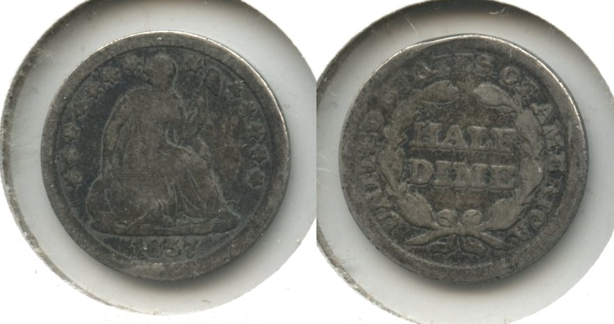 1857 Seated Liberty Half Dime Good-4 #x