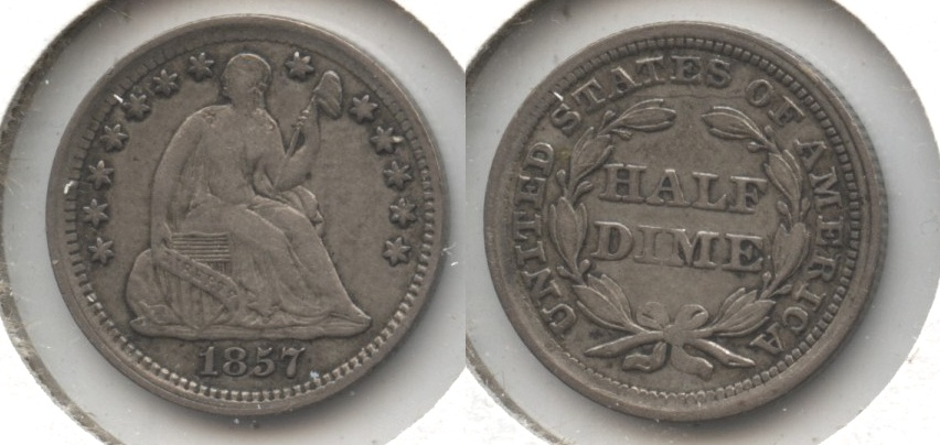 1857 Seated Liberty Half Dime VF-20 #d