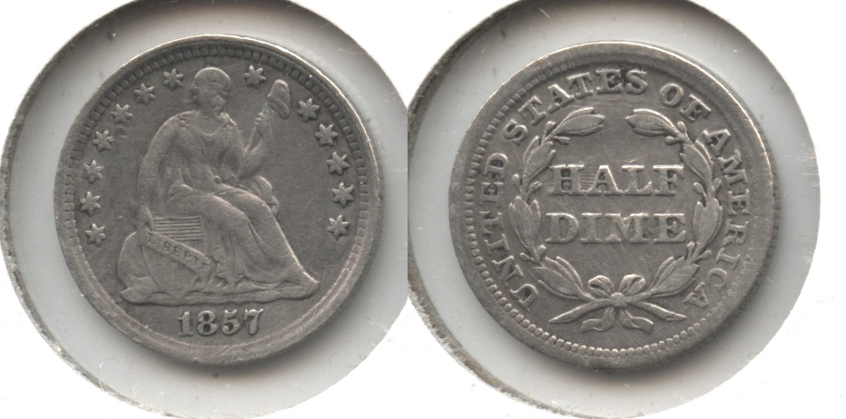 1857 Seated Liberty Half Dime VF-20 #g