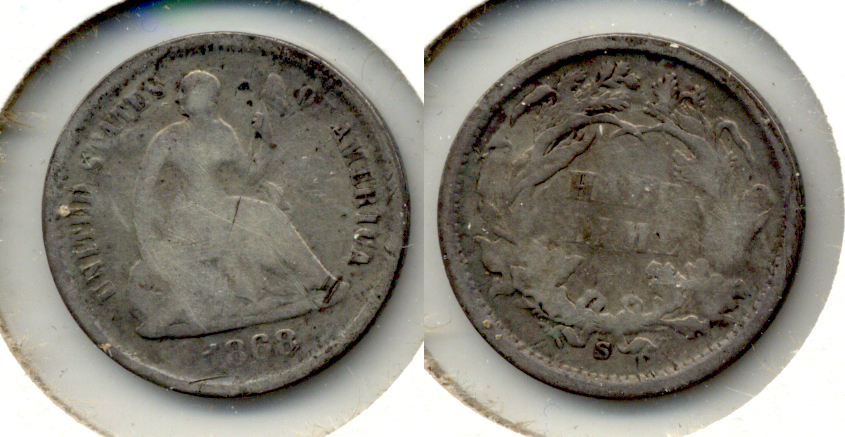 1868-S Seated Liberty Half Dime Good-4