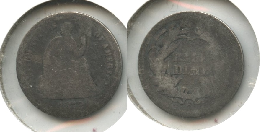 1872-S Seated Liberty Half Dime AG-3