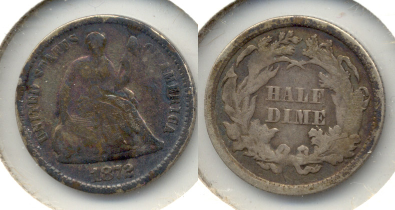 1872 Seated Liberty Half Dime Good-4