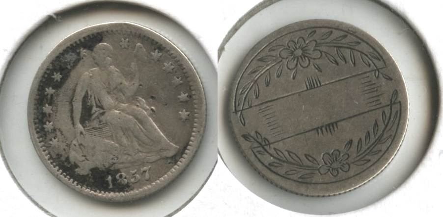 Seated Liberty Half Dime Love Token #a