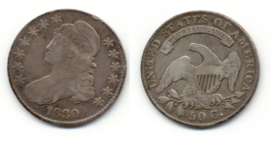 1830 Capped Bust Half Dollar Fine-12