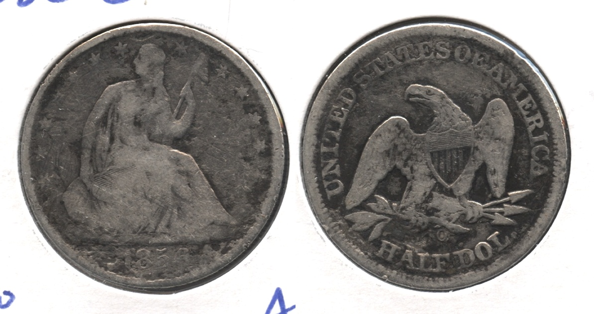 1856-O Seated Liberty Half Dollar Good-4 Rough