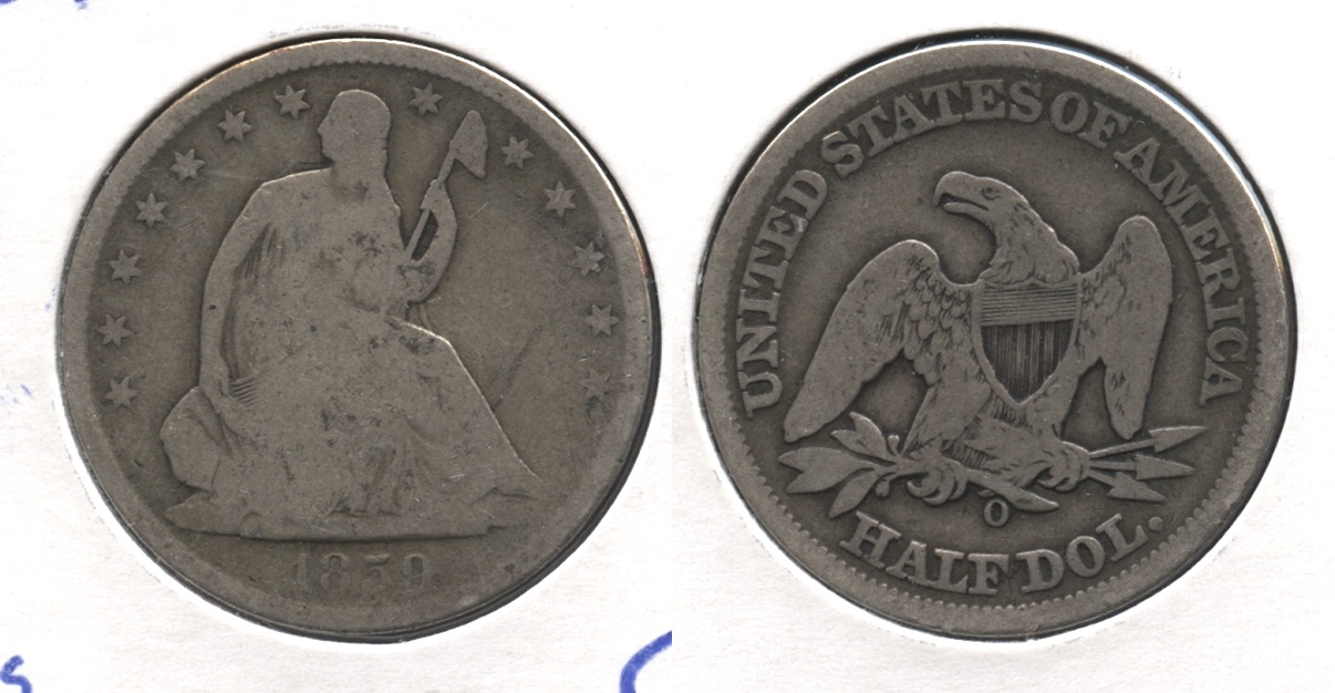 1859-O Seated Liberty Half Dollar Good-4 #a