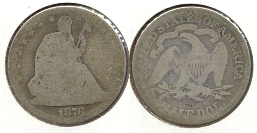 1876 Seated Liberty Half Dollar Fair-2