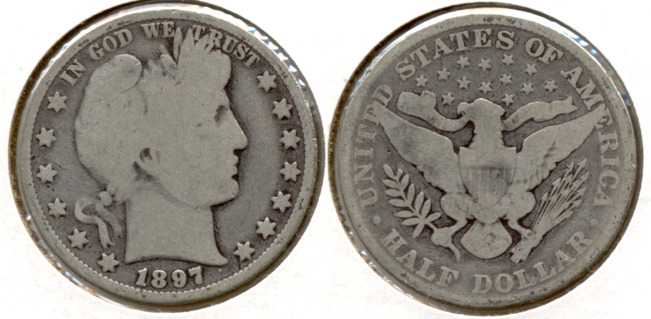1897 Barber Half Dollar Good-4 c