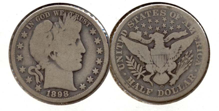 1898-O Barber Half Dollar Good-4